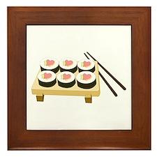 Sushi Love Framed Tile