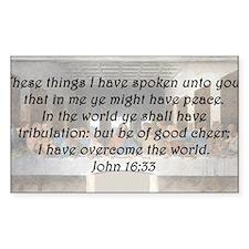 John 16:33 Decal