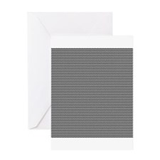black white zig zags Greeting Card