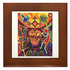Shaman Red Deer 1 Framed Tile