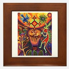 Shaman Red Deer 1 Framed Tile