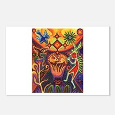 Shaman Red Deer 1 Postcards (Package of 8)