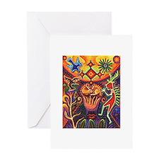Shaman Red Deer 1 Greeting Card