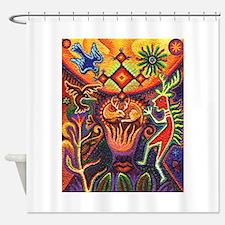 Shaman Red Deer 1 Shower Curtain