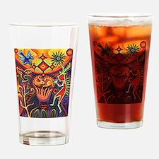 Shaman Red Deer 1 Drinking Glass