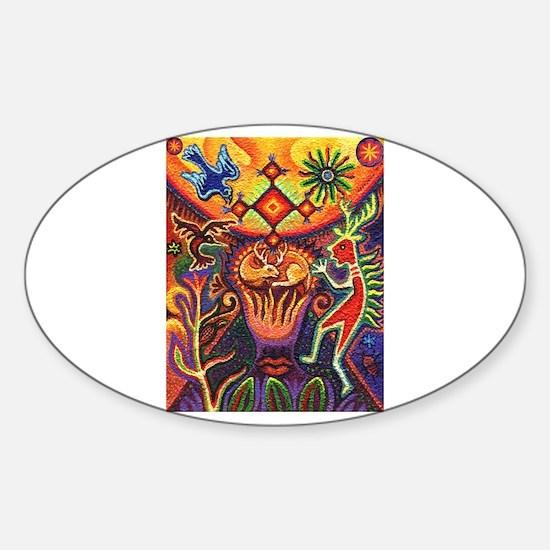 Shaman Red Deer 1 Sticker (Oval)