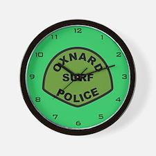 Oxnard Surf Police Wall Clock