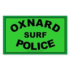 Oxnard Surf Police Rectangle Decal