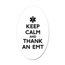 Thank An EMT Oval Car Magnet