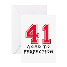 41 Year birthday designs Greeting Card