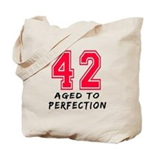 42 Year birthday designs Tote Bag
