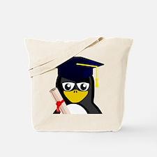 Graduate Penguin Tote Bag