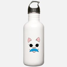 Mustache cat Water Bottle