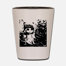 Lost girl in the woods Shot Glass