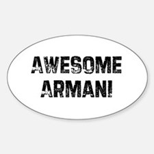 Awesome Armani Oval Decal