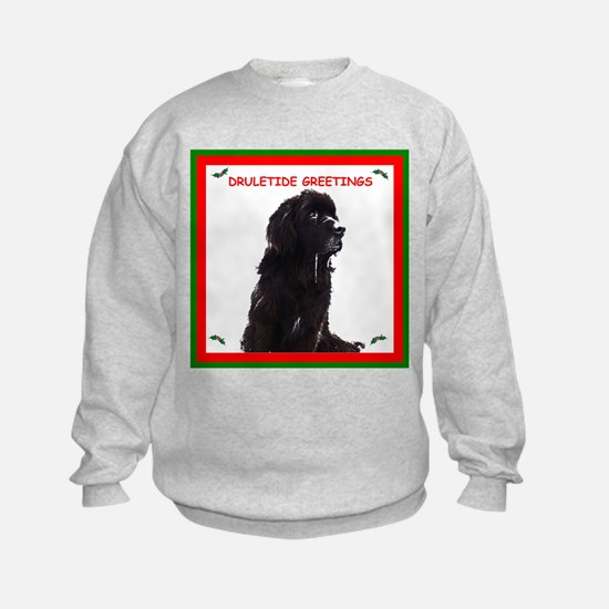 Newfy Drool Holiday dRuletide Greetings Sweatshirt