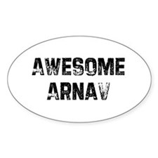 Awesome Arnav Oval Decal