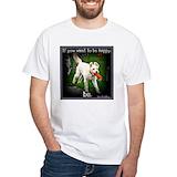 Golden doodle Mens Classic White T-Shirts