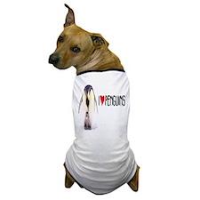 I LOVE [HEART] PENGUINS Dog T-Shirt
