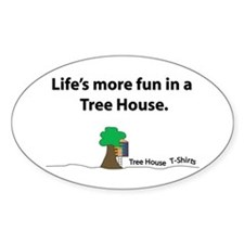 The Tree House Brand Oval Decal