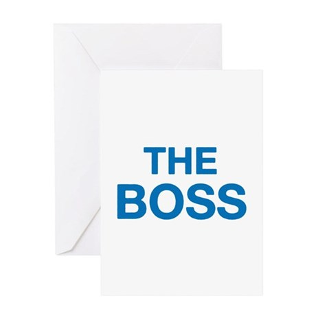 The Boss Greeting Card