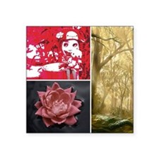 """Lost girl in the woods Square Sticker 3"""" x 3"""""""
