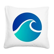 Wave - Summer - Travel Square Canvas Pillow