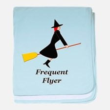 Frequent Flyer baby blanket
