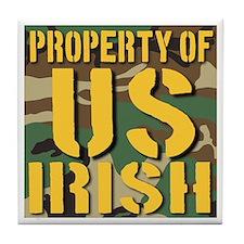 Property of US Irish Tile Coaster