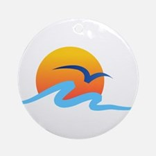 Wave - Summer - Travel Ornament (Round)