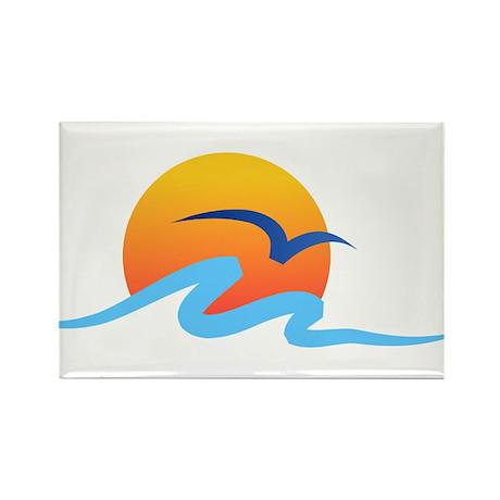 Wave - Summer - Travel Rectangle Magnet (100 pack)