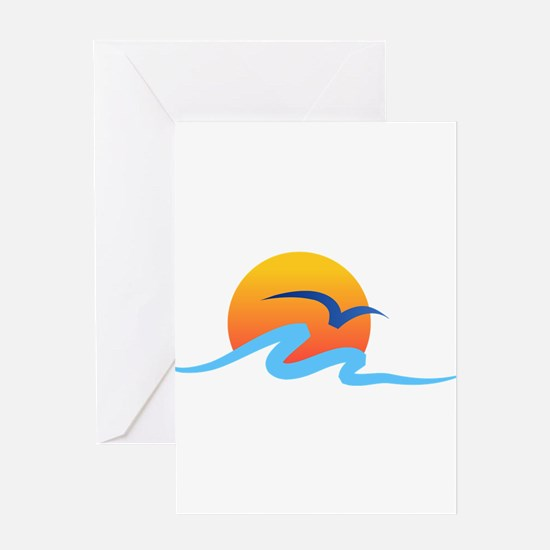 Wave - Summer - Travel Greeting Card