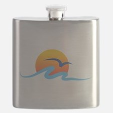 Wave - Summer - Travel Flask