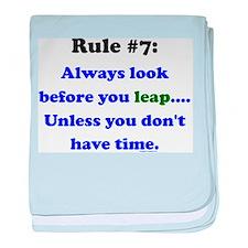 Rule 7: Look Before Leaping baby blanket