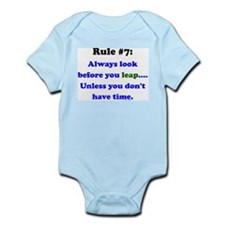 Rule 7: Look Before Leaping Infant Bodysuit