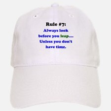 Rule 7: Look Before Leaping Baseball Baseball Cap
