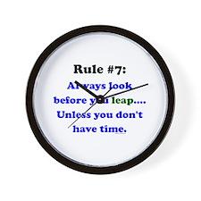 Rule 7: Look Before Leaping Wall Clock
