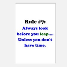 Rule 7: Look Before Leaping Postcards (Package of