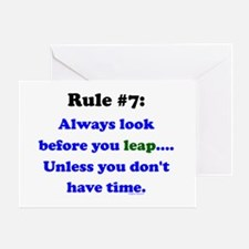 Rule 7: Look Before Leaping Greeting Card