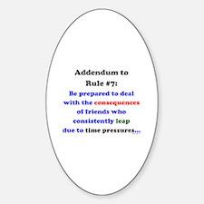 Rule 7 Addendum Decal