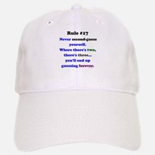 Rule 17 - No Second Guessing Baseball Baseball Cap