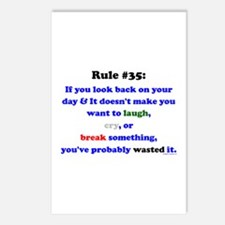 Rule 35 Laugh, Cry, Break Something Postcards (Pac