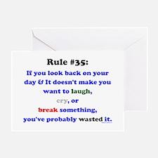 Rule 35 Laugh, Cry, Break Something Greeting Card