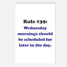Rule 39 - Wednesdays Start Later Postcards (Packag