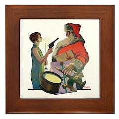 Santa Got Held Up By a Flappe Framed Tile