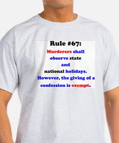 Rule 67 - National Holidays, Confession Exempt Lig
