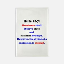 Rule 67 - National Holidays, Confession Exempt Rec