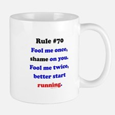 Rule 70 - Better Start Running Mug