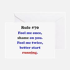 Rule 70 - Better Start Running Greeting Card