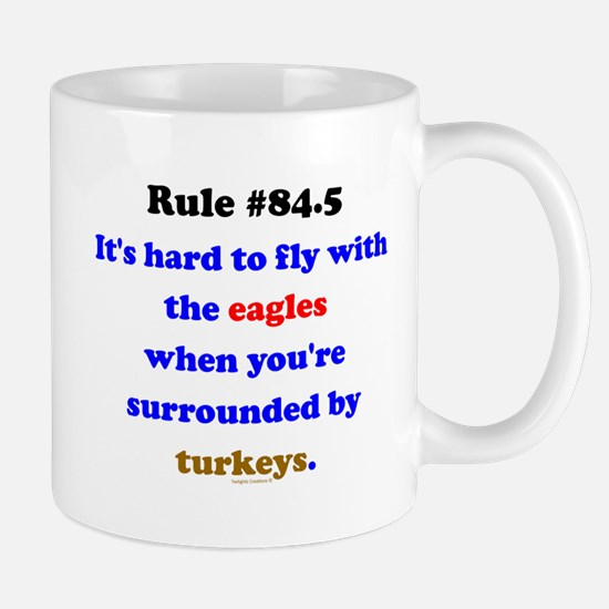 Rule 84.5 Surrounded by Turkeys Mug